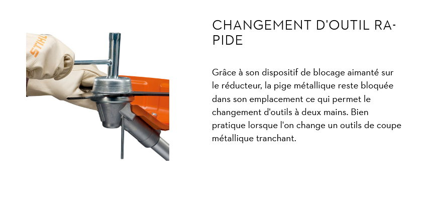 changement outil